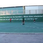 La defensa del Partizan Belako